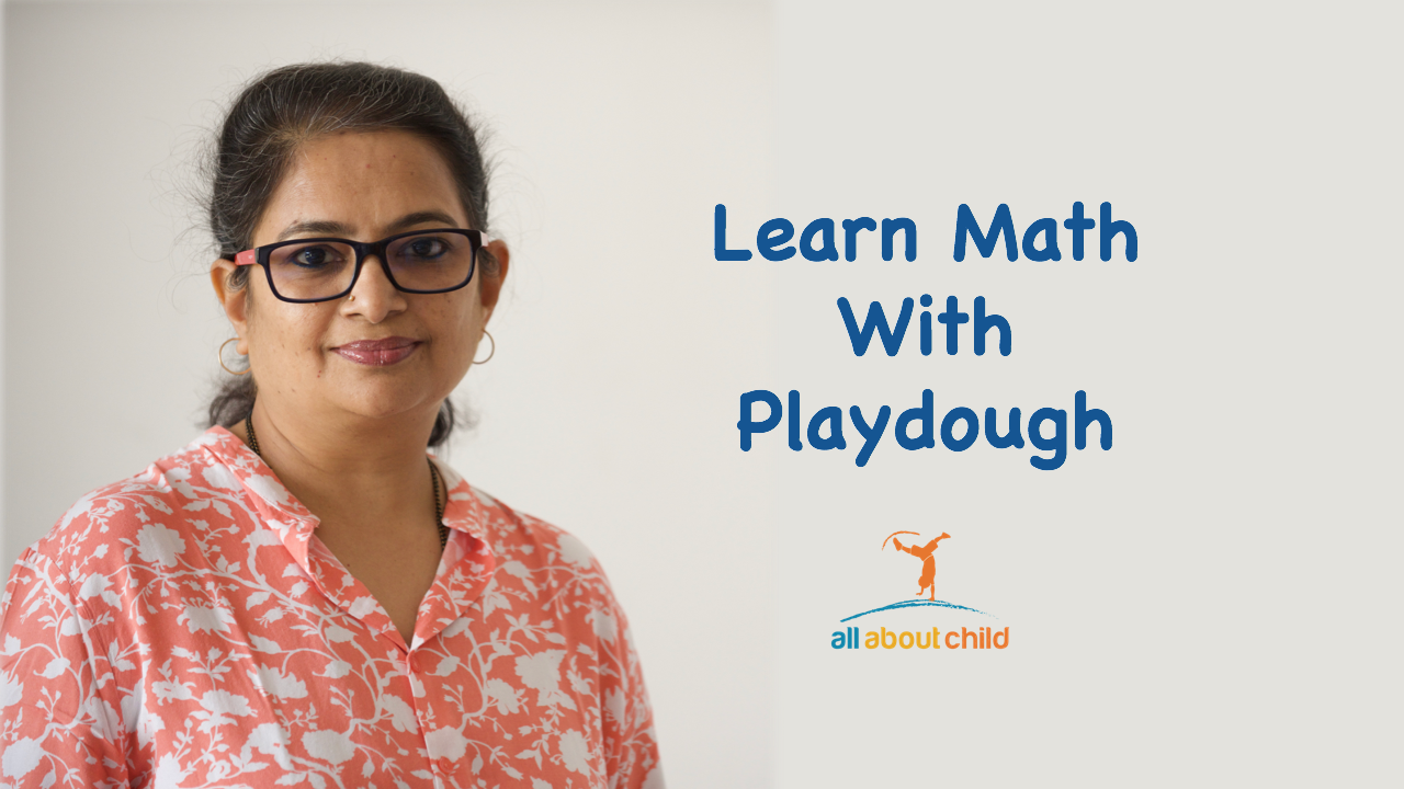 all about child learning math with play dough
